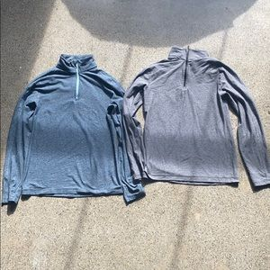 2 Lululemon Men's Half ZIP Pullovers Small